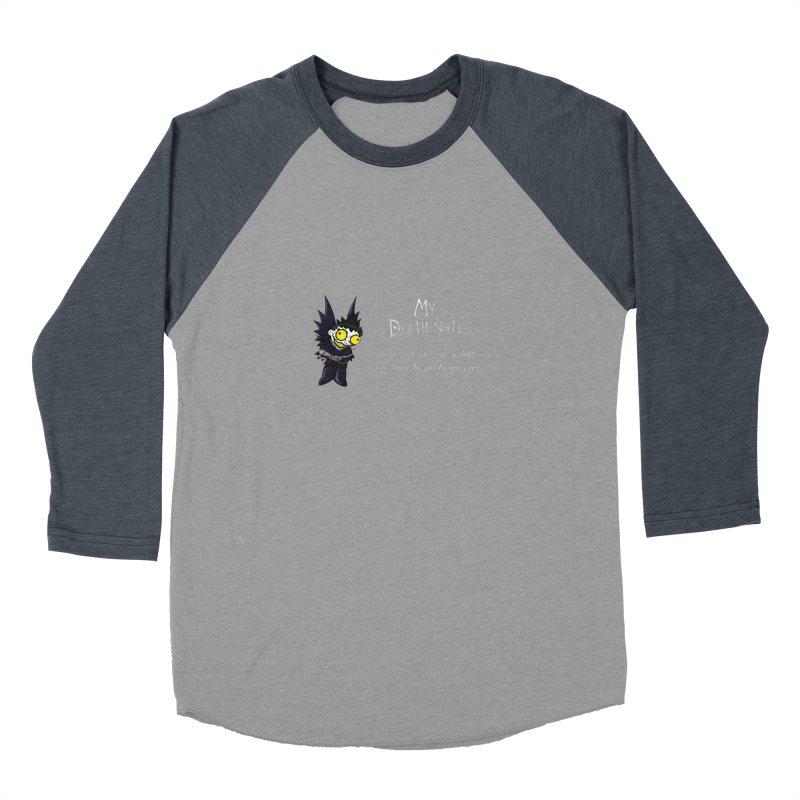 Deathnote for Bin Laden Men's Baseball Triblend Longsleeve T-Shirt by Zheph Skyre