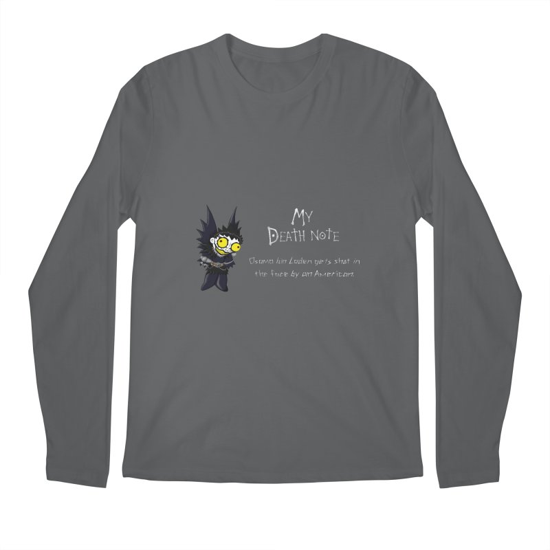 Deathnote for Bin Laden Men's Longsleeve T-Shirt by Zheph Skyre