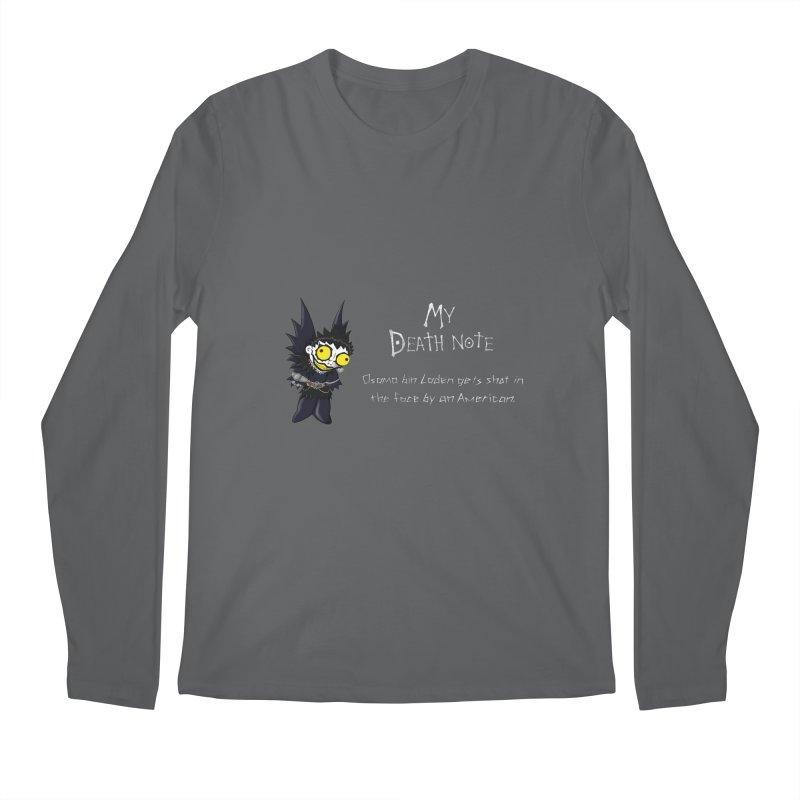 Deathnote for Bin Laden Men's Regular Longsleeve T-Shirt by zhephskyre's Artist Shop