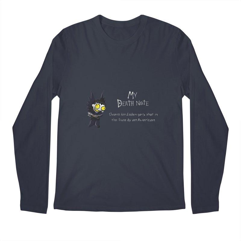 Deathnote for Bin Laden Men's Longsleeve T-Shirt by zhephskyre's Artist Shop