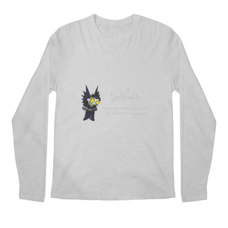Deathnote for Bin Laden Men's Regular Longsleeve T-Shirt by Zheph Skyre