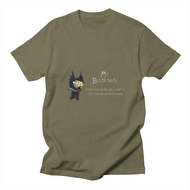 Deathnote for Bin Laden Men's T-Shirt by Zheph Skyre