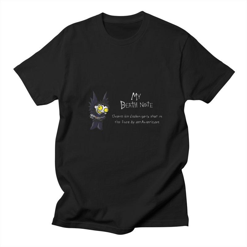 Deathnote for Bin Laden Men's T-shirt by zhephskyre's Artist Shop