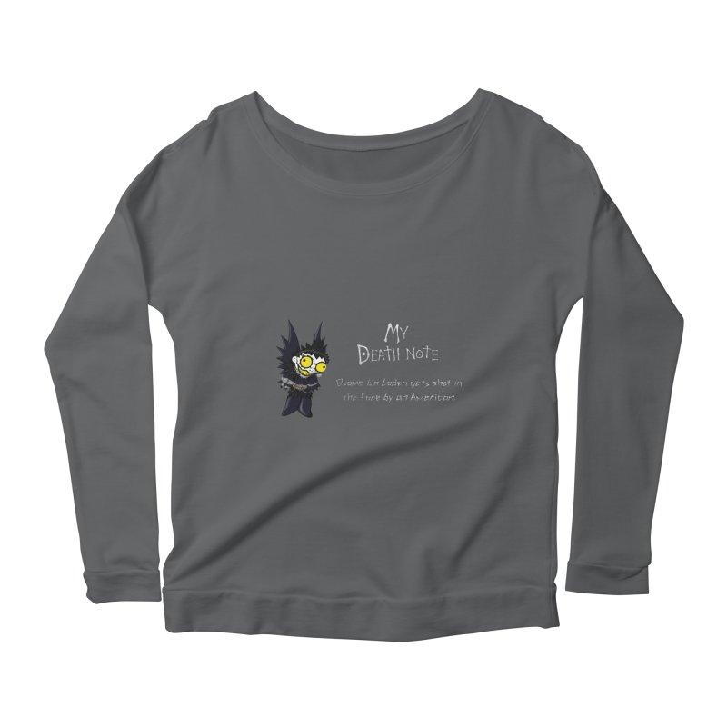 Deathnote for Bin Laden Women's Scoop Neck Longsleeve T-Shirt by Zheph Skyre