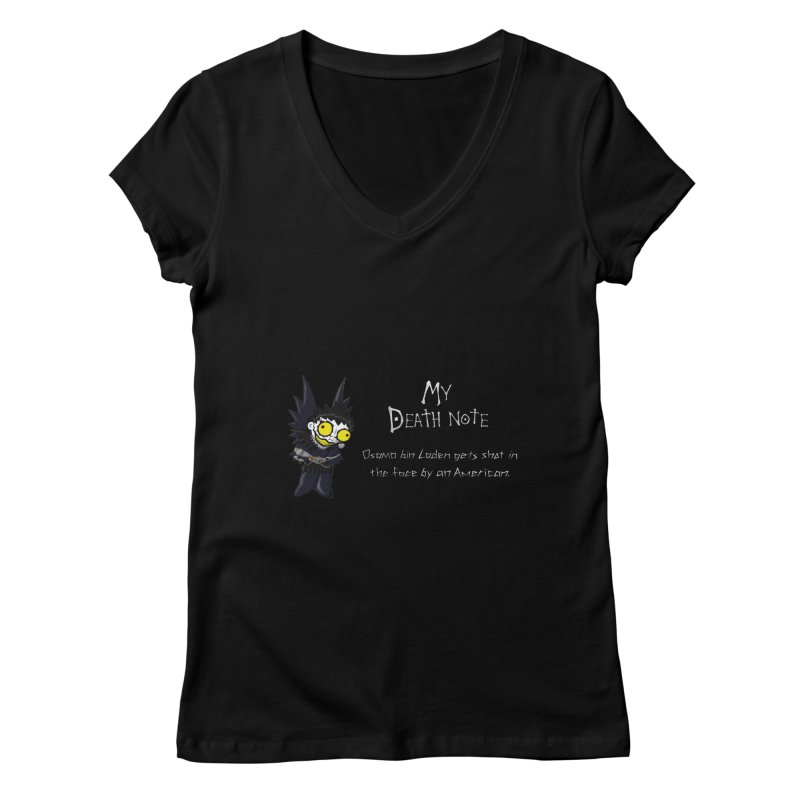Deathnote for Bin Laden Women's V-Neck by Zheph Skyre
