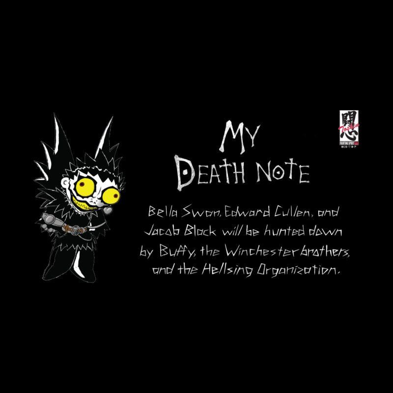 Deathnote for the Characters of Twilight Men's Sweatshirt by Zheph Skyre