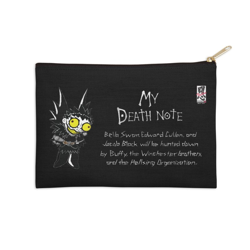 Deathnote for the Characters of Twilight Accessories Zip Pouch by Zheph Skyre
