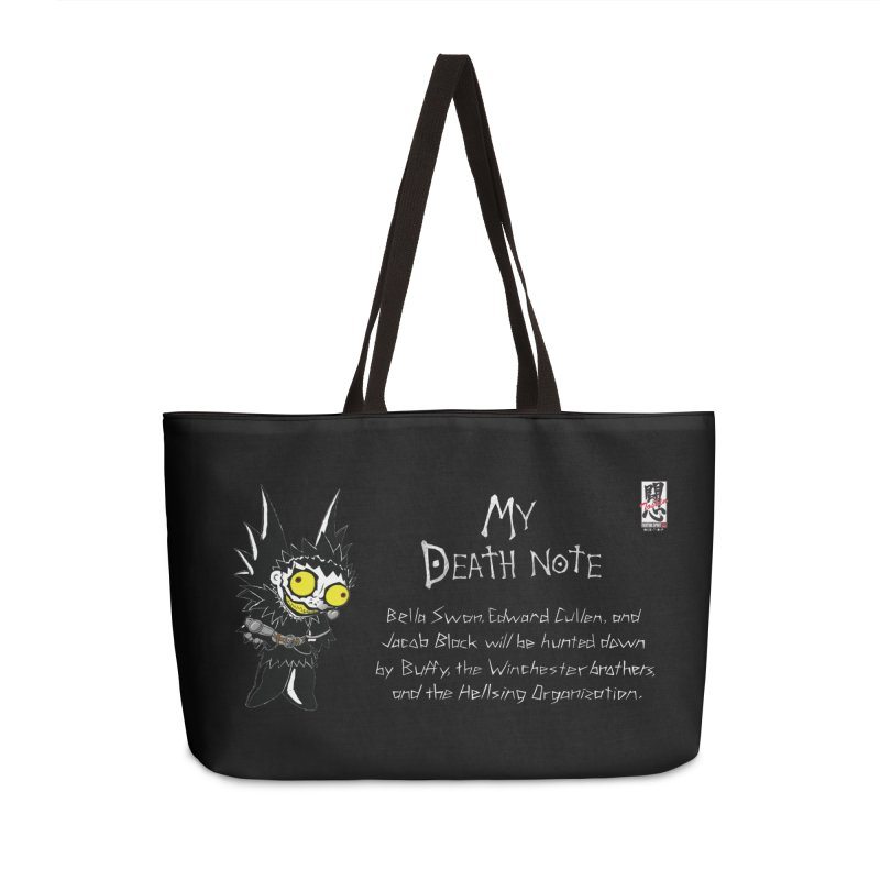 Deathnote for the Characters of Twilight Accessories Weekender Bag Bag by Zheph Skyre