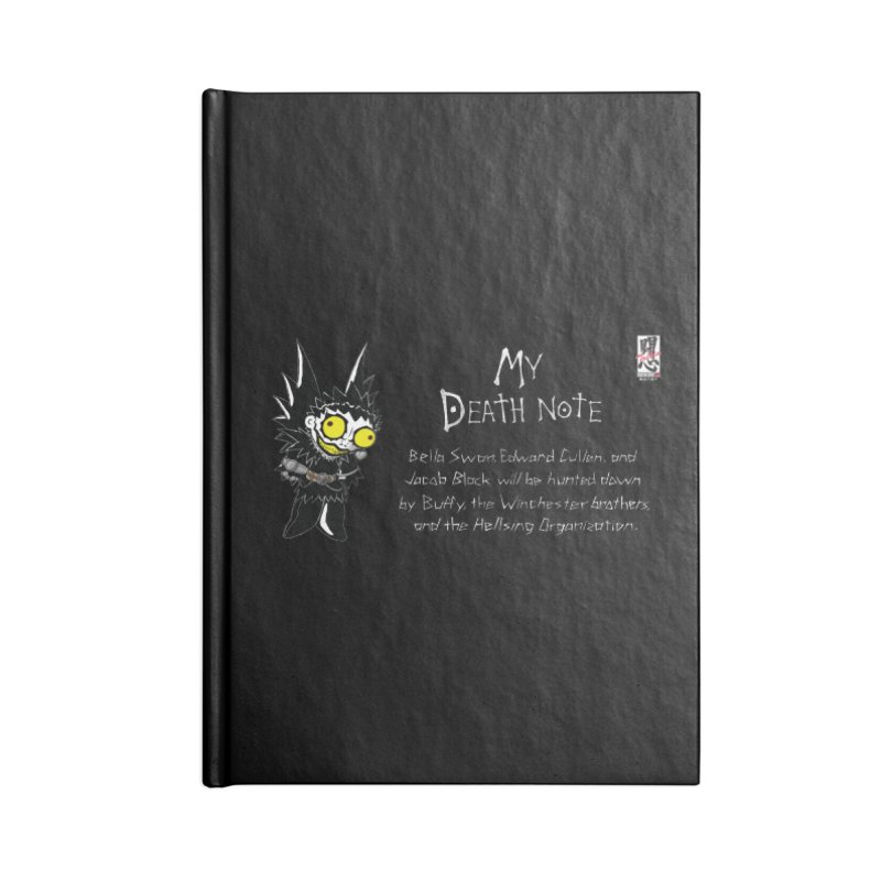 Deathnote for the Characters of Twilight Accessories Lined Journal Notebook by Zheph Skyre