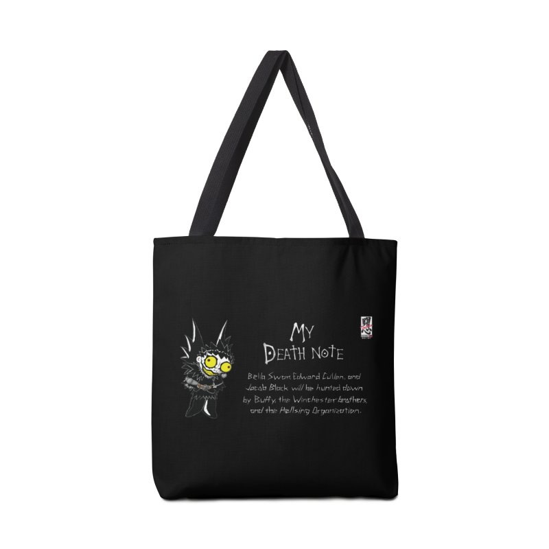 Deathnote for the Characters of Twilight Accessories Tote Bag Bag by Zheph Skyre