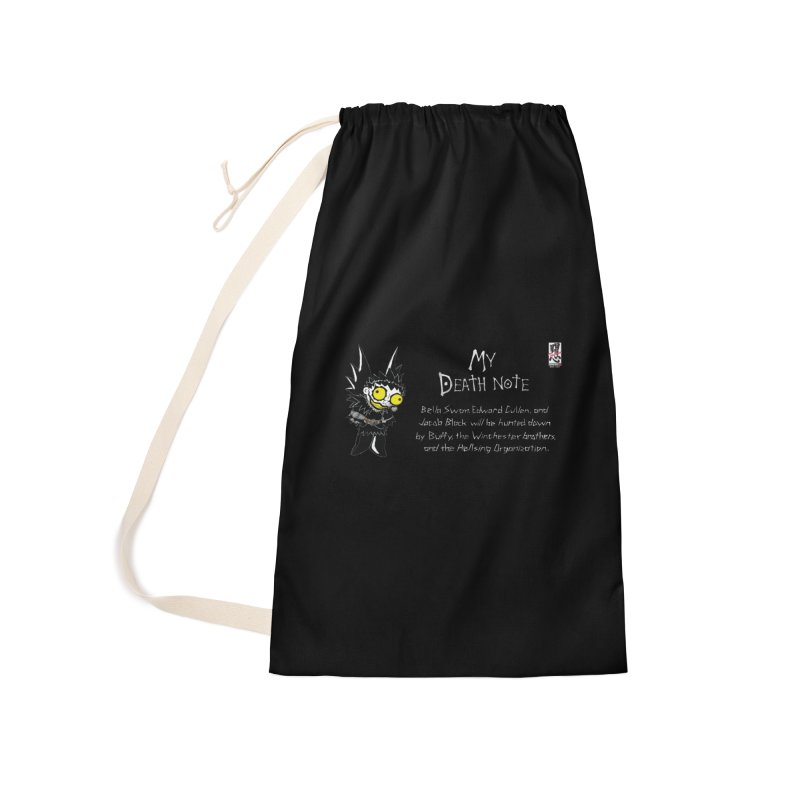 Deathnote for the Characters of Twilight Accessories Laundry Bag Bag by Zheph Skyre