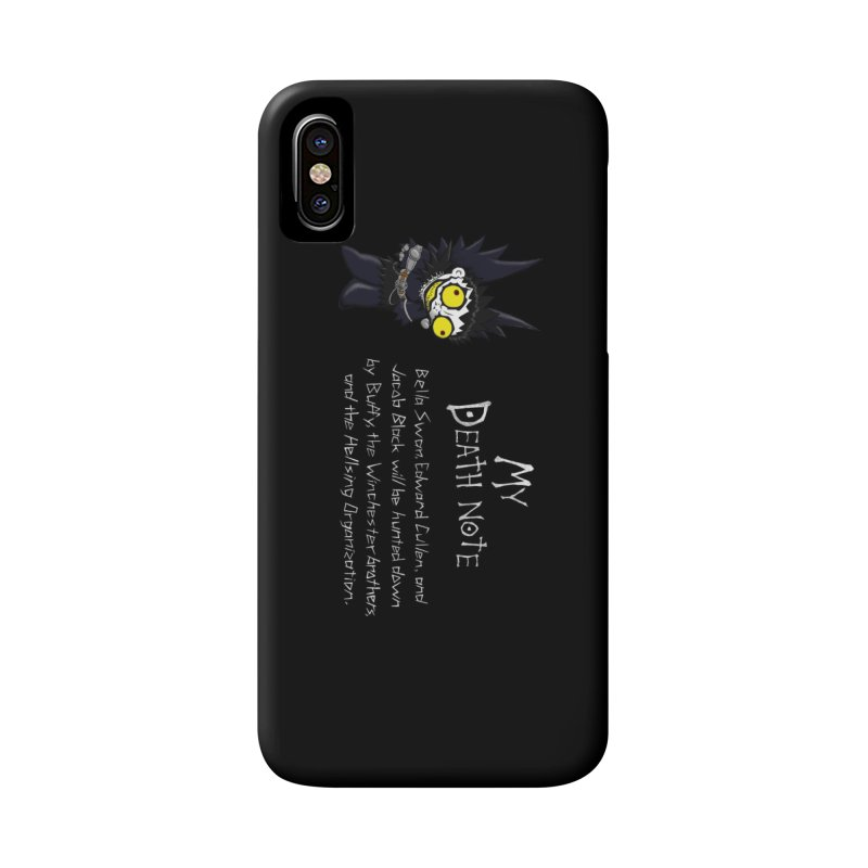 Deathnote for the Characters of Twilight Accessories Phone Case by Zheph Skyre