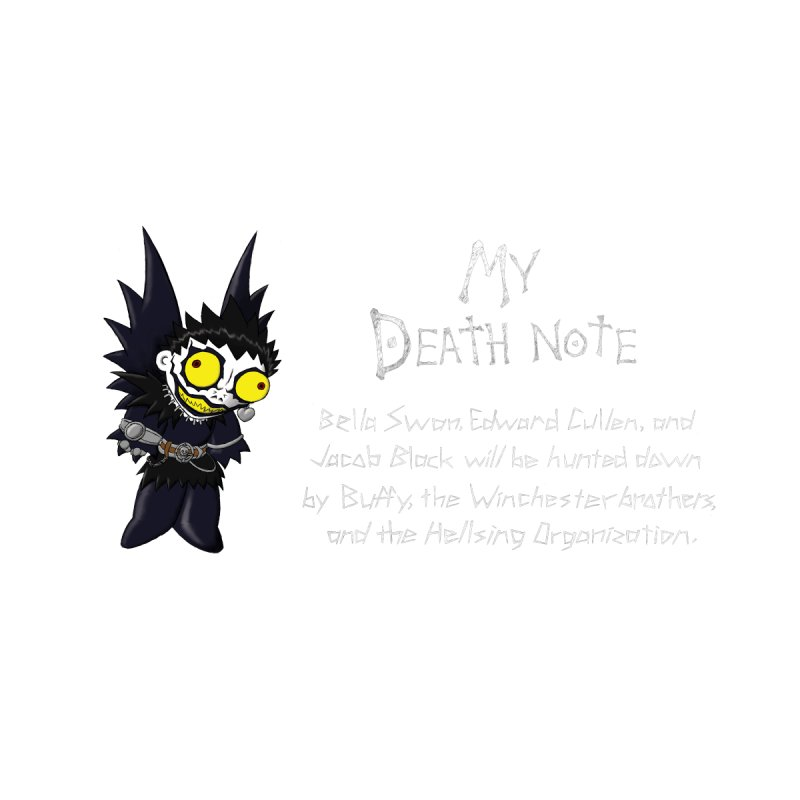 Deathnote for the Characters of Twilight by zhephskyre's Artist Shop