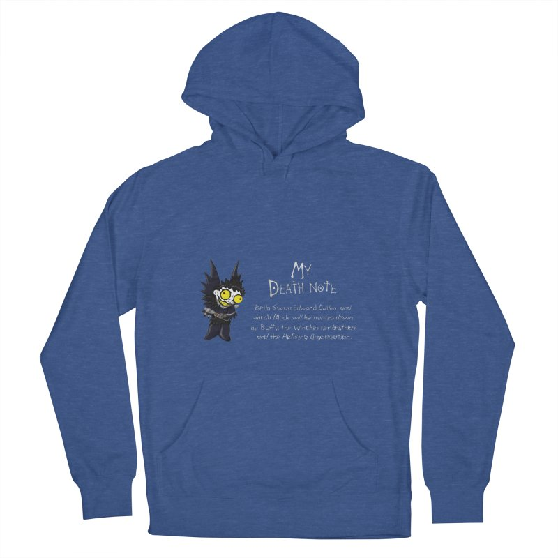 Deathnote for the Characters of Twilight Men's French Terry Pullover Hoody by zhephskyre's Artist Shop