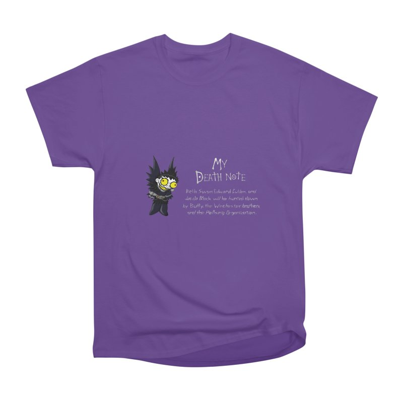 Deathnote for the Characters of Twilight Women's Heavyweight Unisex T-Shirt by zhephskyre's Artist Shop