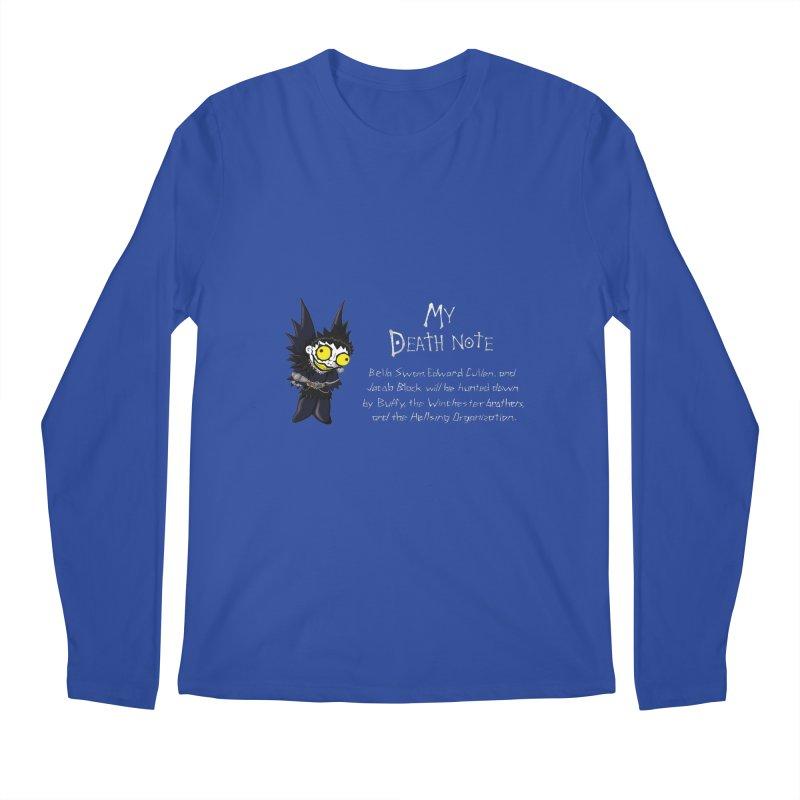 Deathnote for the Characters of Twilight Men's Regular Longsleeve T-Shirt by Zheph Skyre