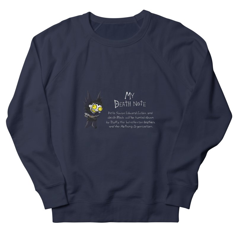 Deathnote for the Characters of Twilight Men's French Terry Sweatshirt by Zheph Skyre