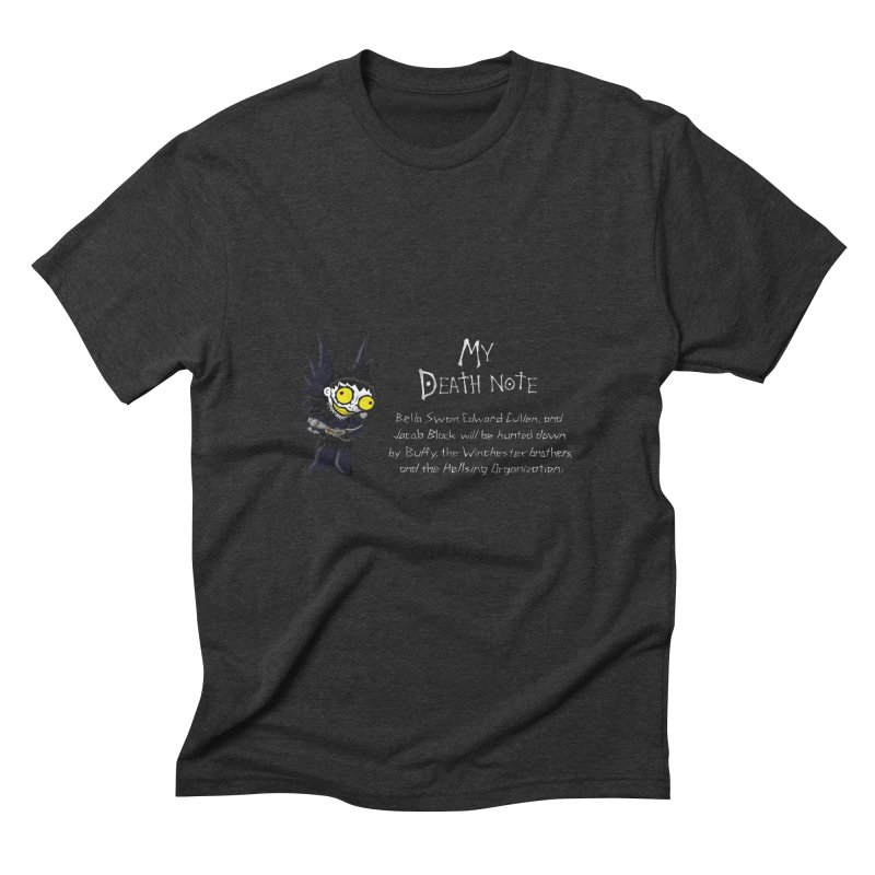 Deathnote for the Characters of Twilight Men's Triblend T-Shirt by zhephskyre's Artist Shop