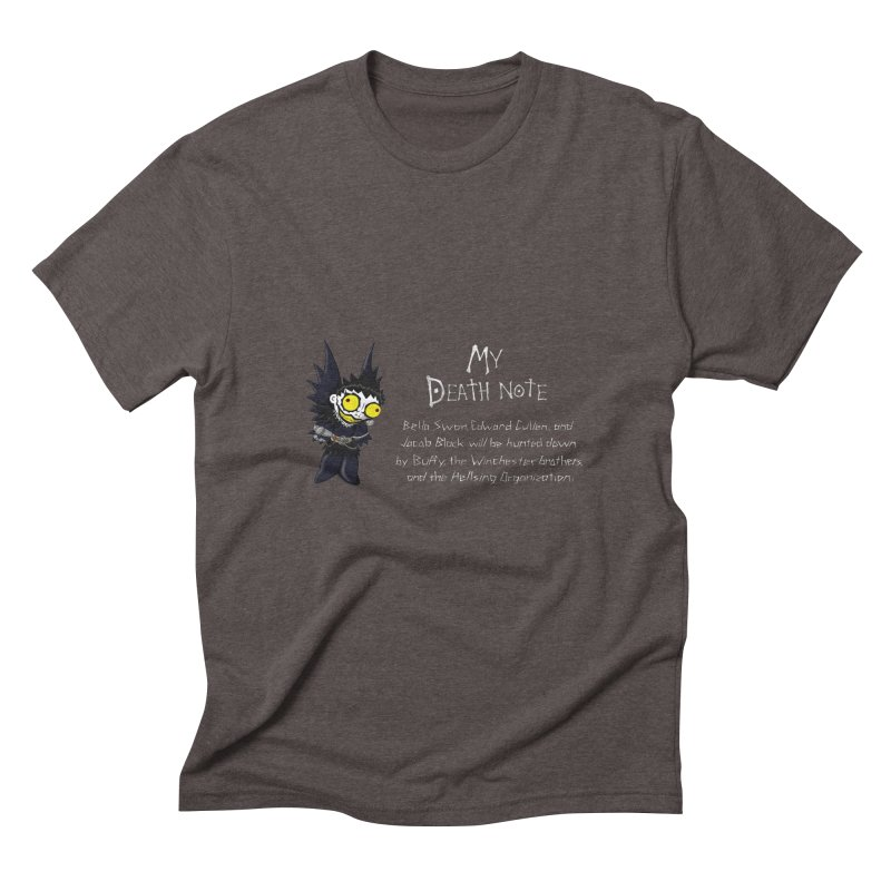Deathnote for the Characters of Twilight Men's Triblend T-Shirt by Zheph Skyre