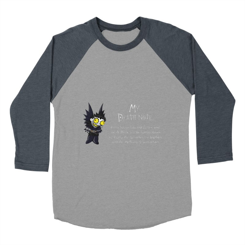 Deathnote for the Characters of Twilight Women's Baseball Triblend Longsleeve T-Shirt by Zheph Skyre