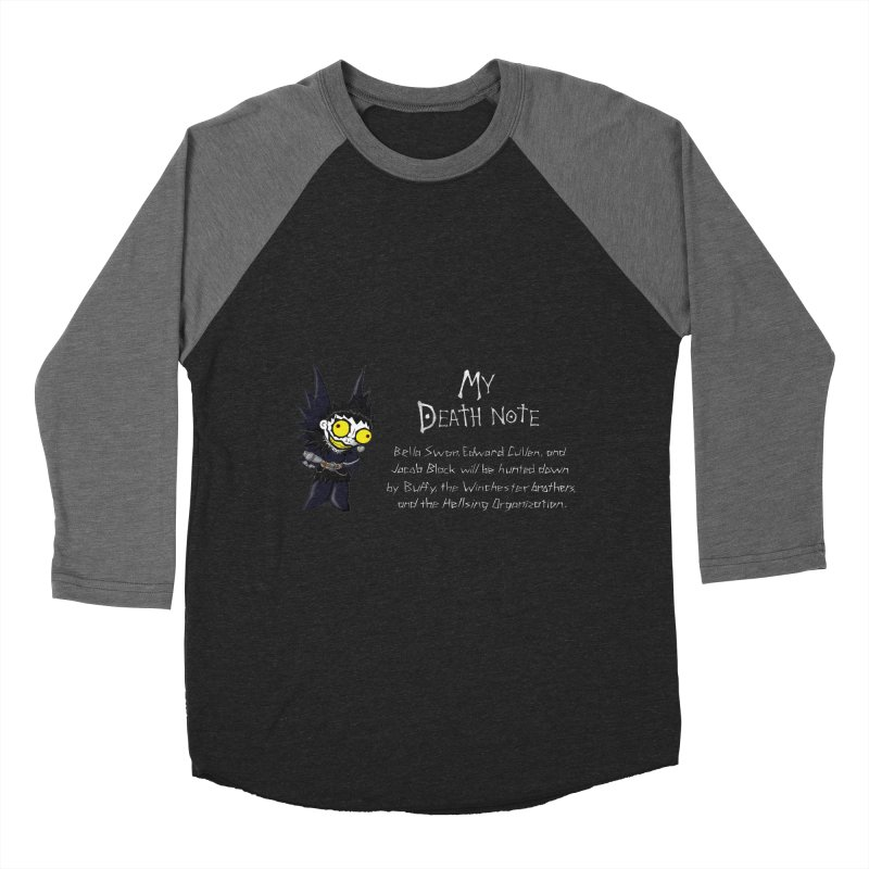 Deathnote for the Characters of Twilight Men's Baseball Triblend T-Shirt by zhephskyre's Artist Shop