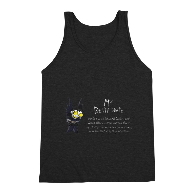Deathnote for the Characters of Twilight Men's Triblend Tank by Zheph Skyre