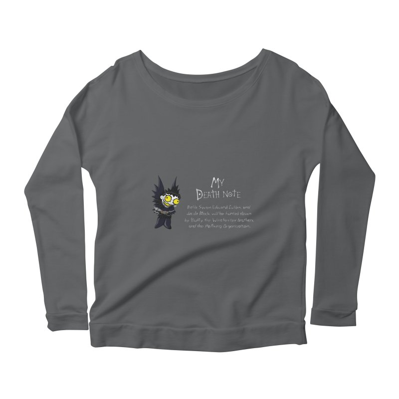 Deathnote for the Characters of Twilight Women's Longsleeve Scoopneck  by zhephskyre's Artist Shop