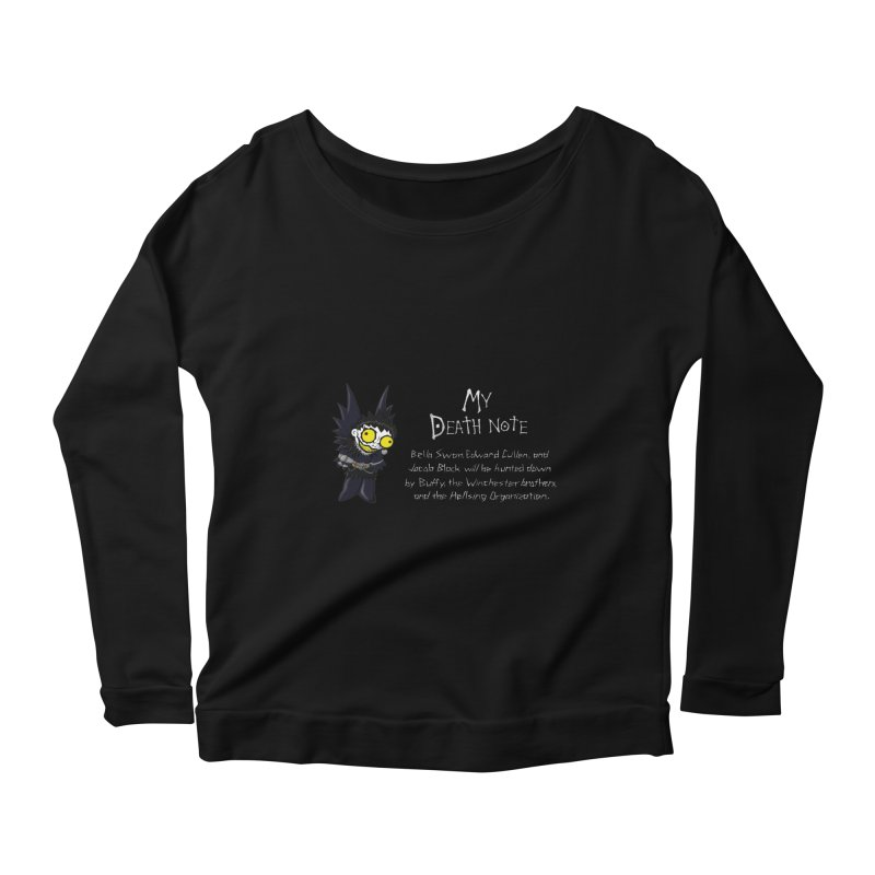 Deathnote for the Characters of Twilight Women's Scoop Neck Longsleeve T-Shirt by Zheph Skyre
