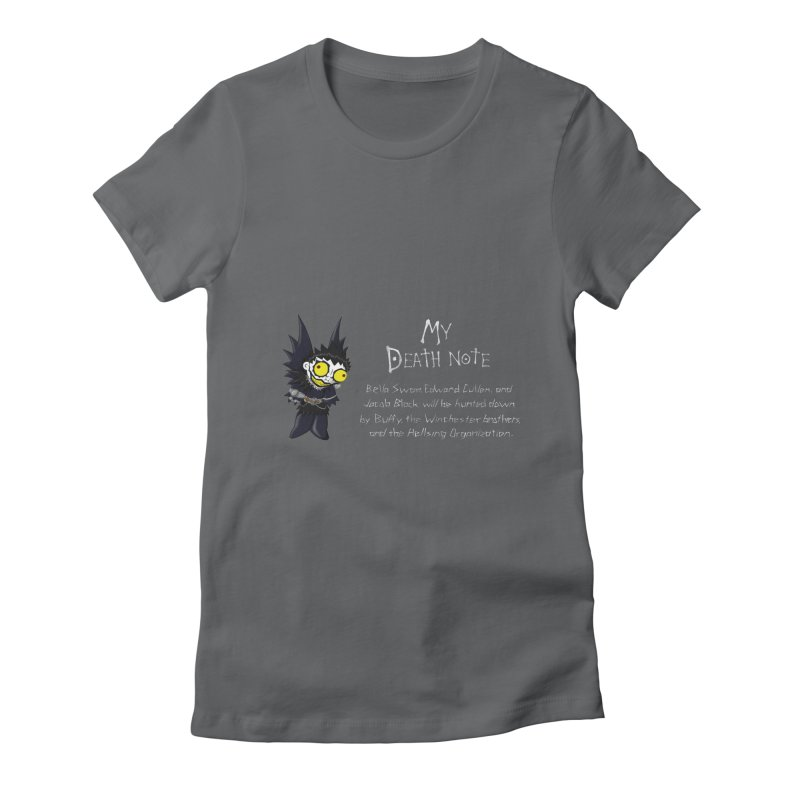 Deathnote for the Characters of Twilight Women's Fitted T-Shirt by zhephskyre's Artist Shop