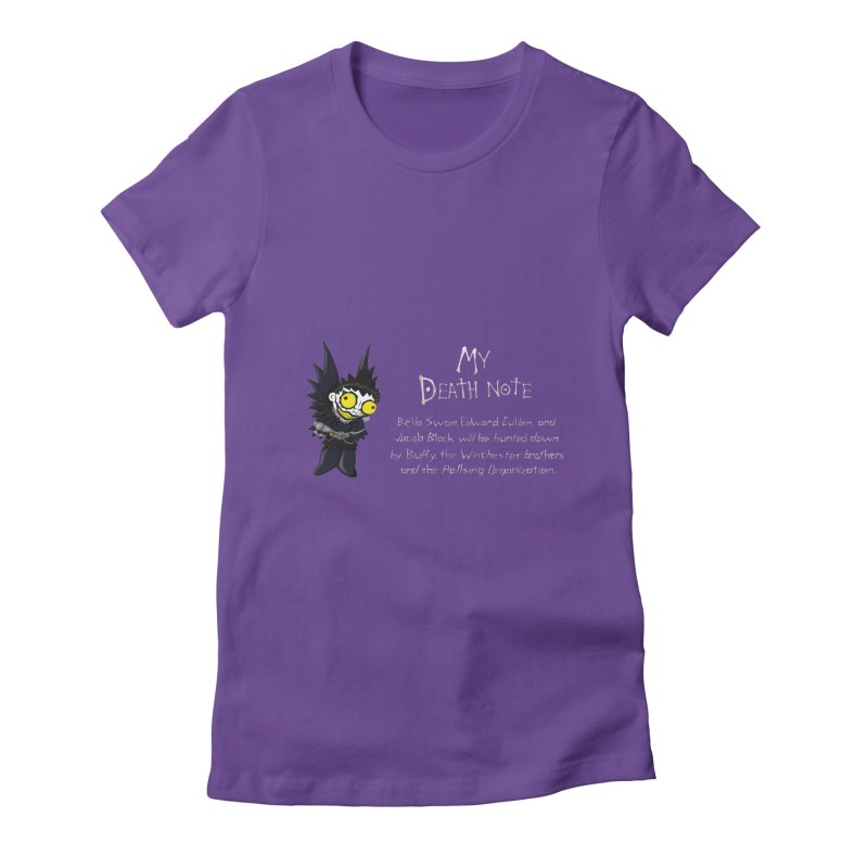 Deathnote for the Characters of Twilight Women's Fitted T-Shirt by Zheph Skyre