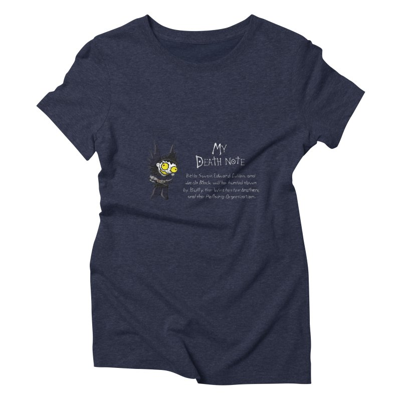 Deathnote for the Characters of Twilight Women's Triblend T-shirt by zhephskyre's Artist Shop