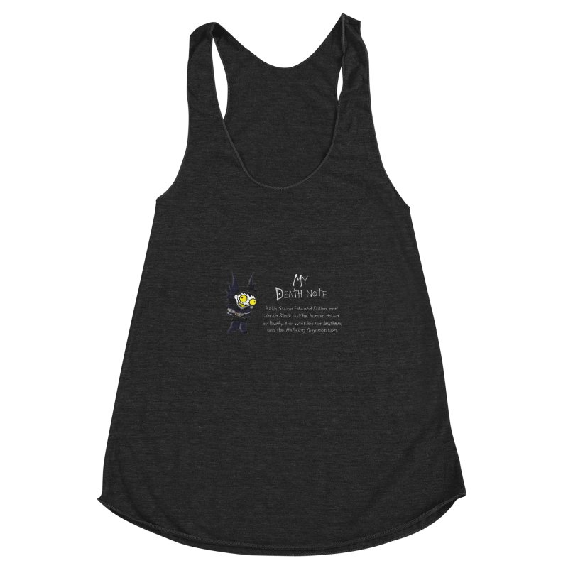 Deathnote for the Characters of Twilight Women's Racerback Triblend Tank by Zheph Skyre