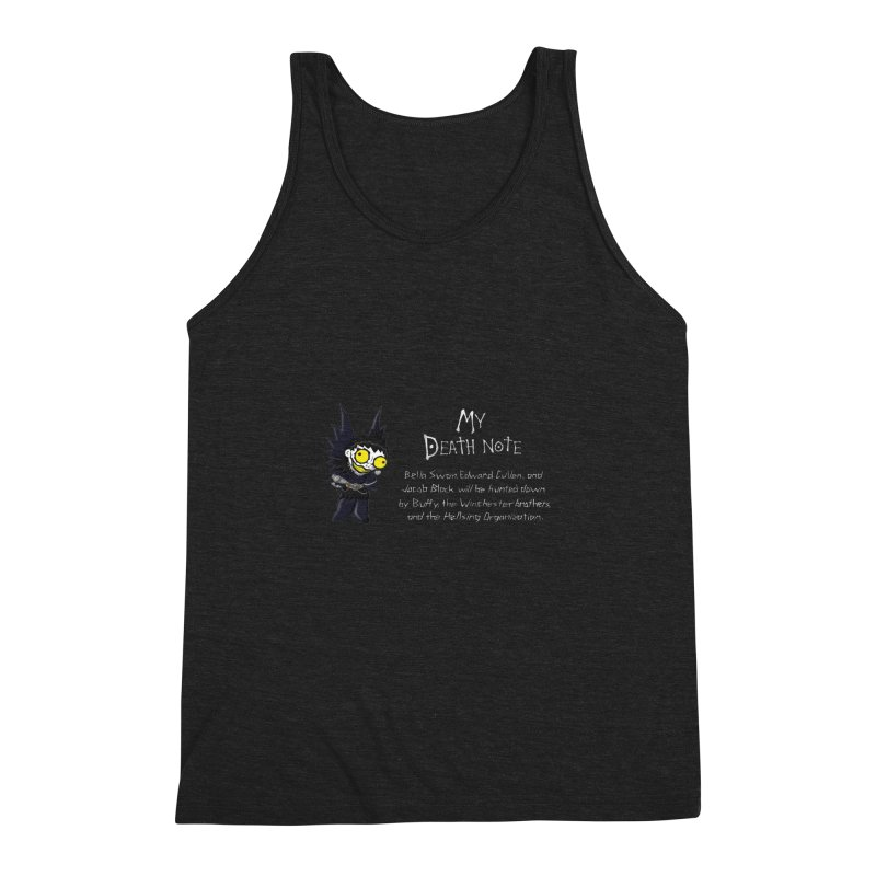 Deathnote for the Characters of Twilight Men's Triblend Tank by zhephskyre's Artist Shop
