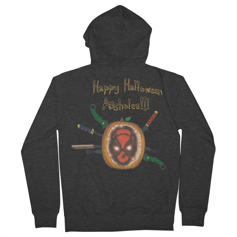 Jack-o-pool Men's French Terry Zip-Up Hoody by zhephskyre's Artist Shop