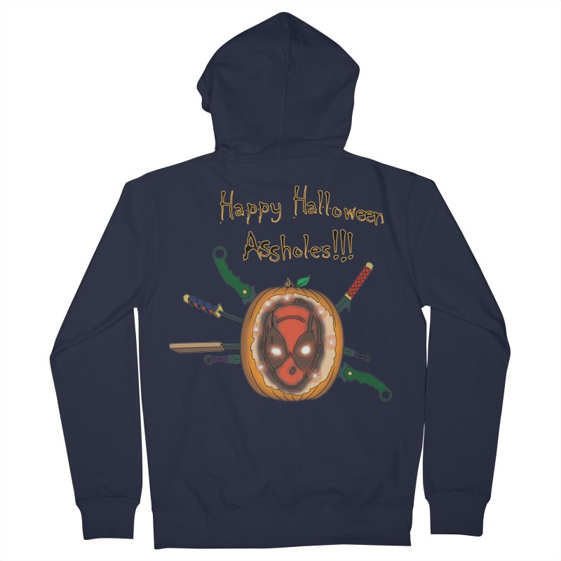 Jack-o-pool Men's French Terry Zip-Up Hoody by Zheph Skyre
