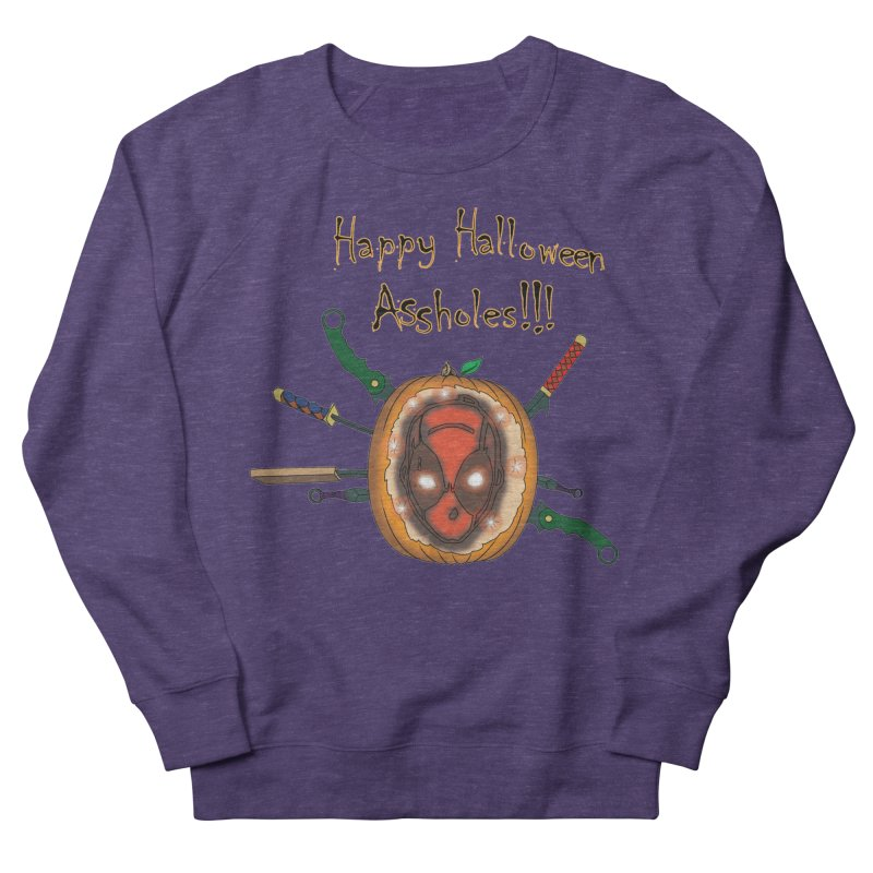 Jack-o-pool Men's French Terry Sweatshirt by zhephskyre's Artist Shop