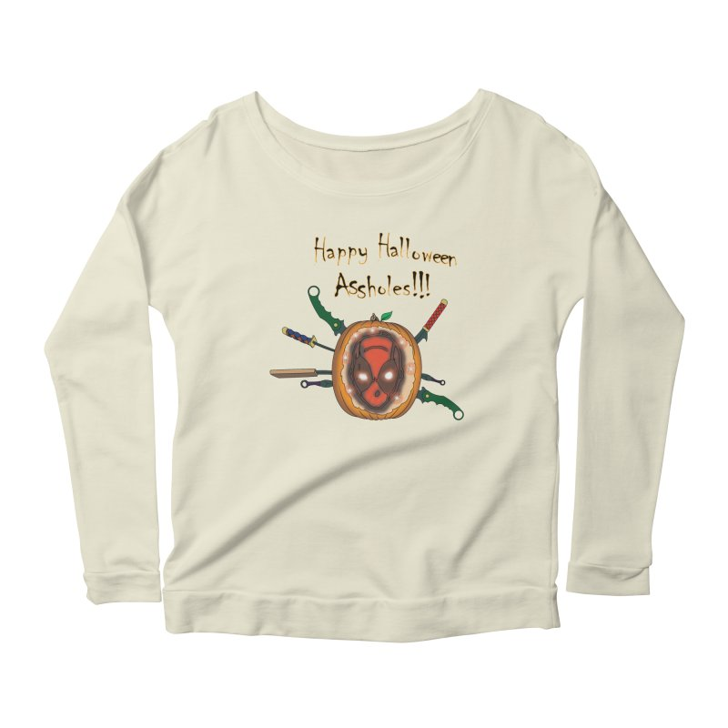 Jack-o-pool Women's Scoop Neck Longsleeve T-Shirt by Zheph Skyre