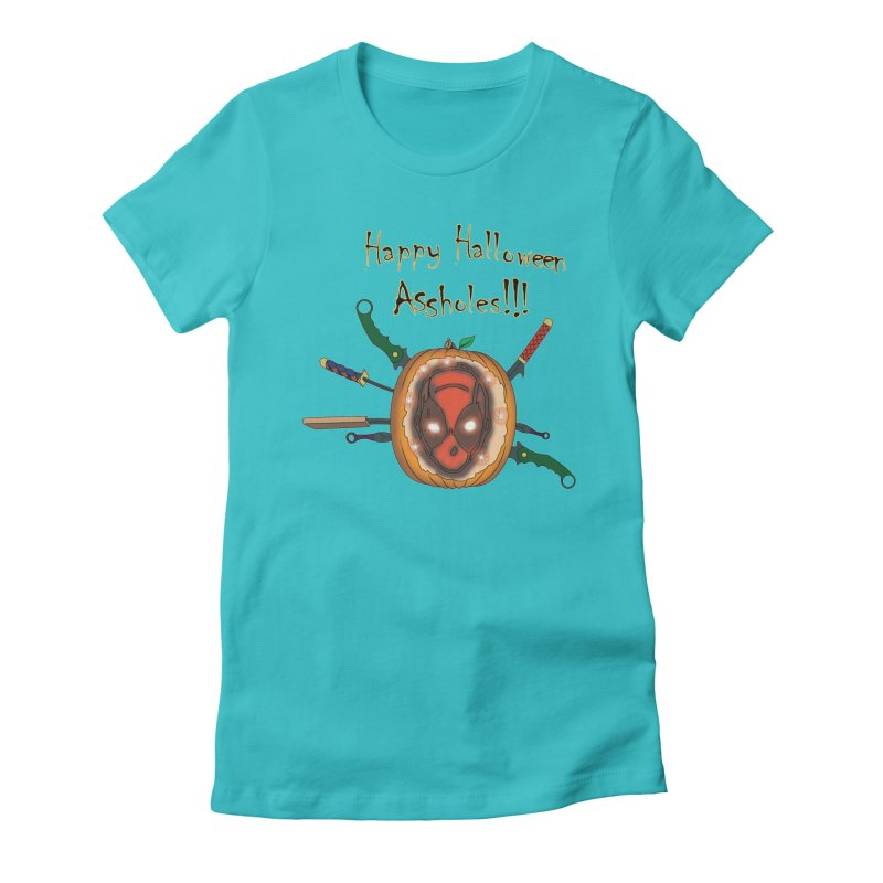 Jack-o-pool Women's Fitted T-Shirt by zhephskyre's Artist Shop