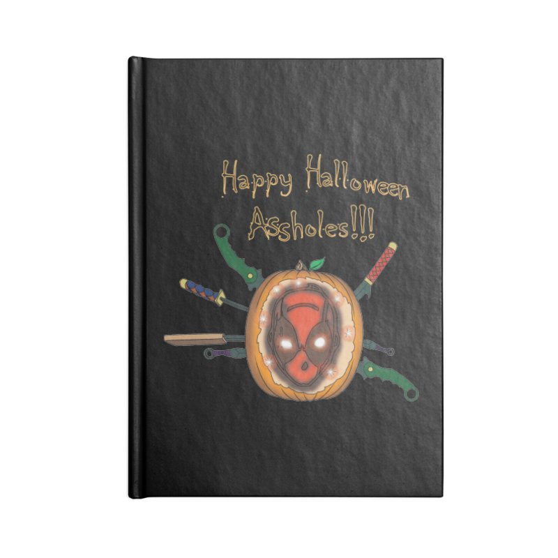 Jack-o-pool Accessories Lined Journal Notebook by Zheph Skyre
