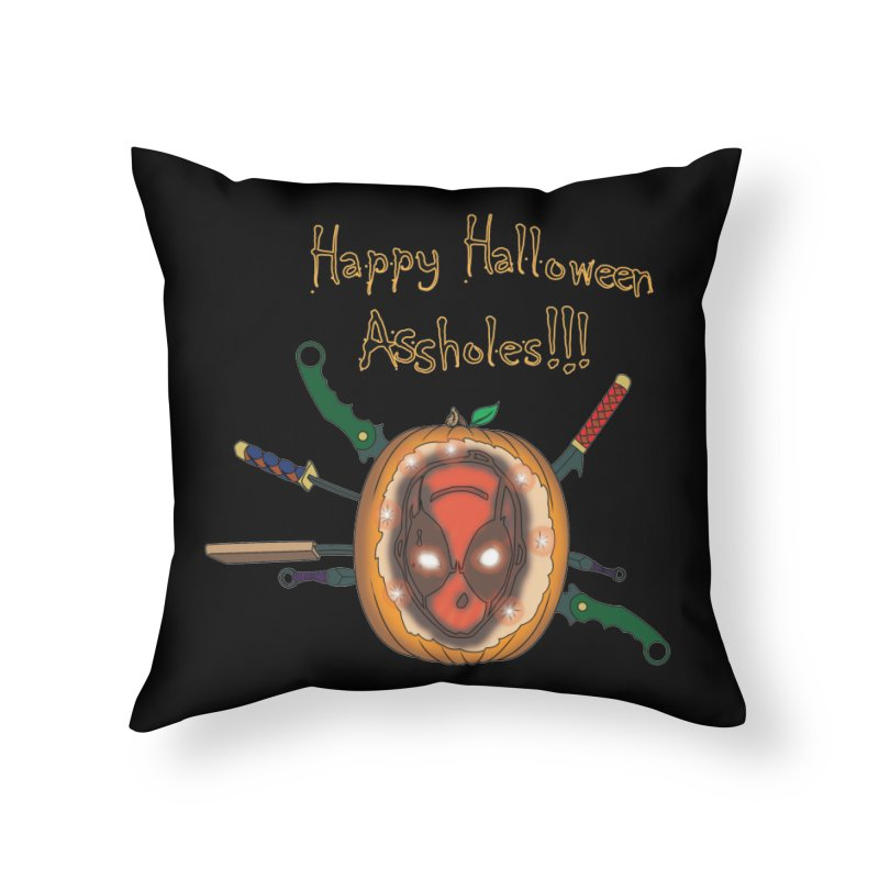 Jack-o-pool Home Throw Pillow by Zheph Skyre
