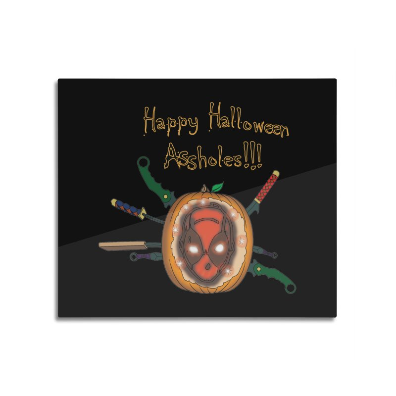 Jack-o-pool Home Mounted Aluminum Print by Zheph Skyre