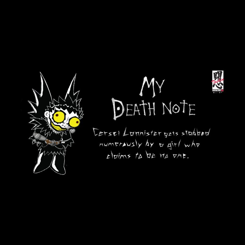 Deathnote for Cerci Men's Zip-Up Hoody by Zheph Skyre
