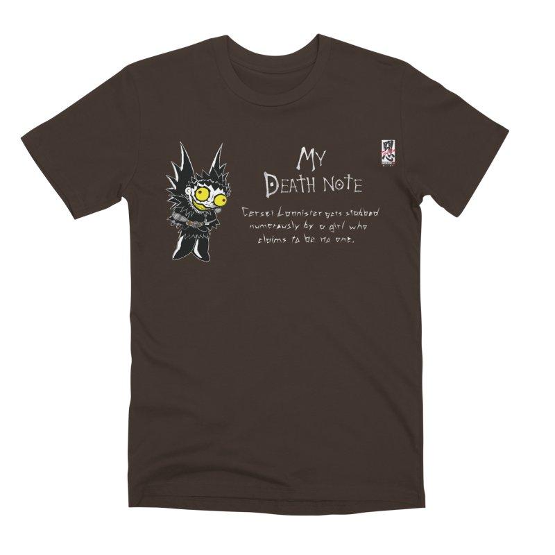 Deathnote for Cerci Men's Premium T-Shirt by zhephskyre's Artist Shop