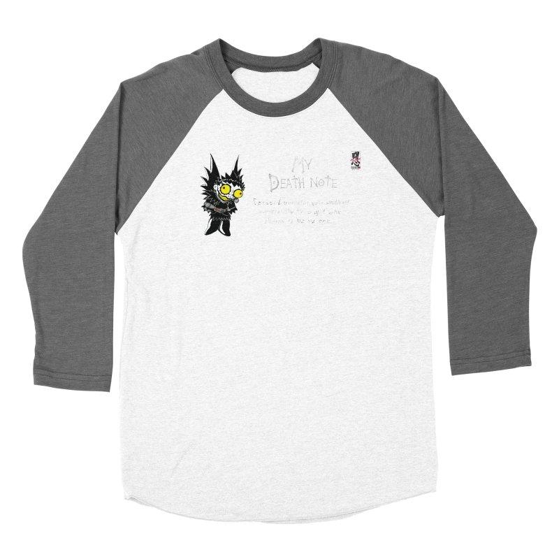 Deathnote for Cerci Men's Baseball Triblend Longsleeve T-Shirt by Zheph Skyre