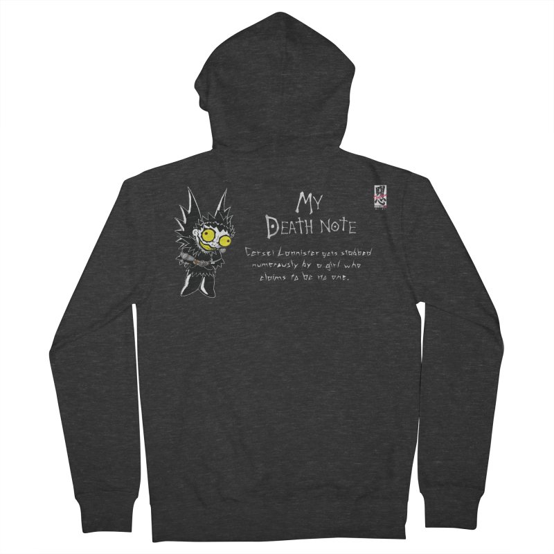 Deathnote for Cerci Women's French Terry Zip-Up Hoody by Zheph Skyre