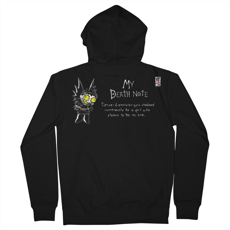 Deathnote for Cerci Men's French Terry Zip-Up Hoody by Zheph Skyre