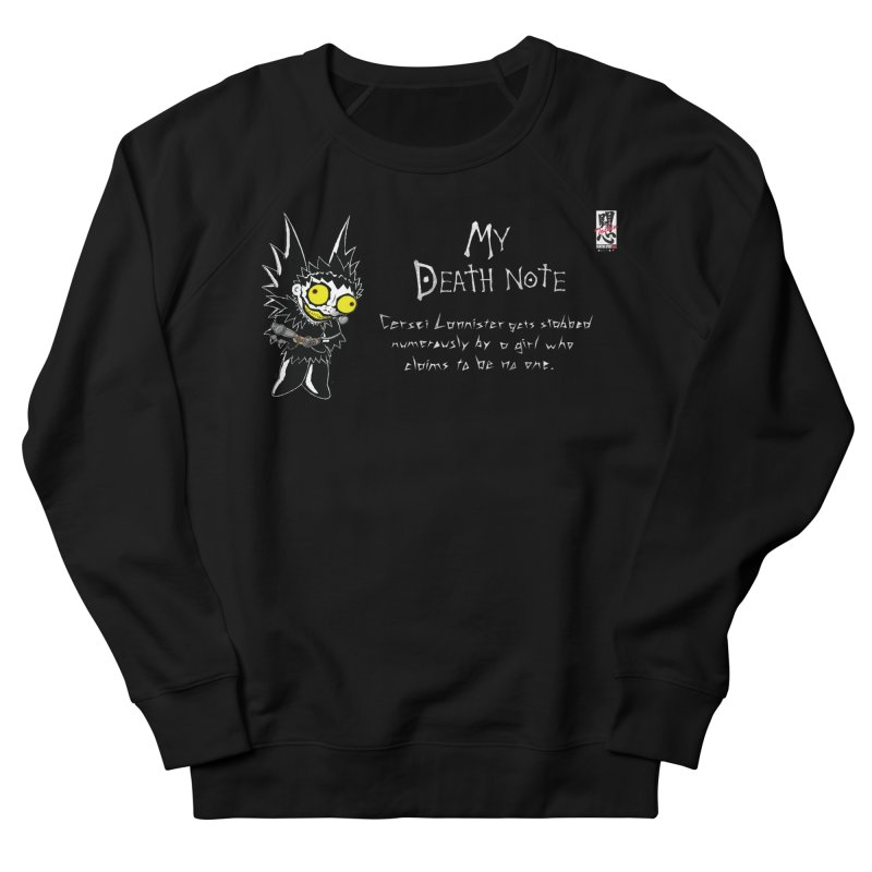Deathnote for Cerci Women's French Terry Sweatshirt by zhephskyre's Artist Shop
