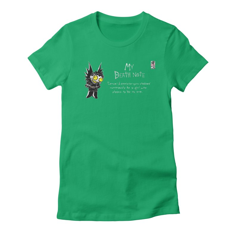 Deathnote for Cerci Women's Fitted T-Shirt by zhephskyre's Artist Shop