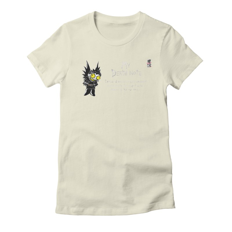 Deathnote for Cerci Women's Fitted T-Shirt by Zheph Skyre