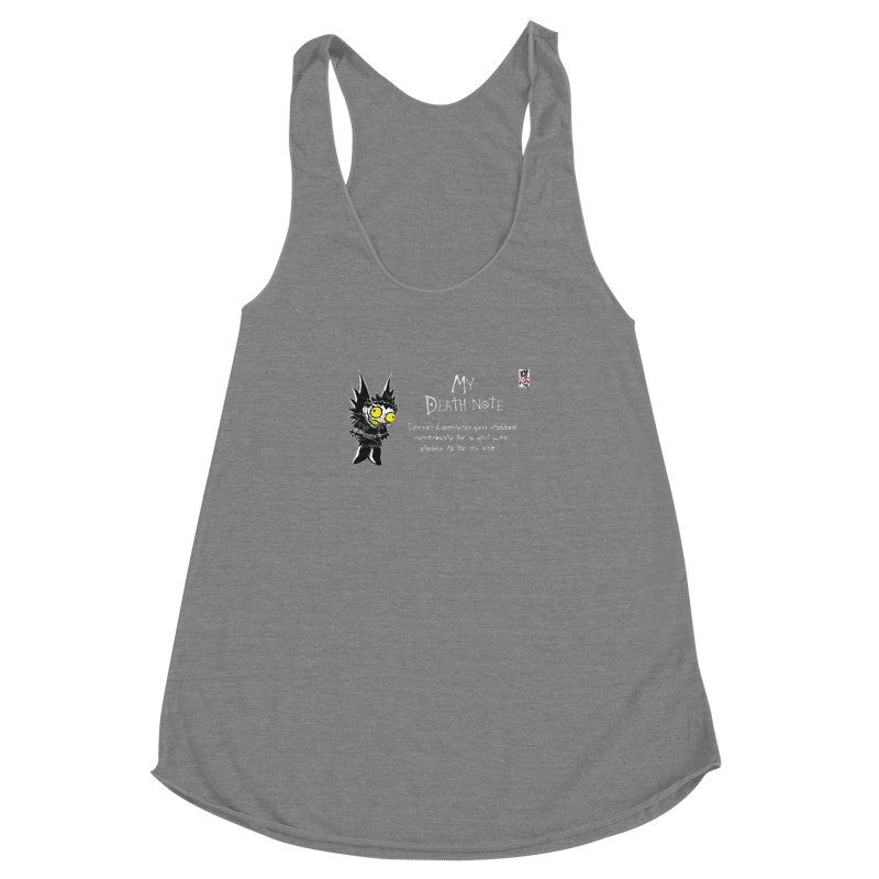 Deathnote for Cerci Women's Racerback Triblend Tank by Zheph Skyre